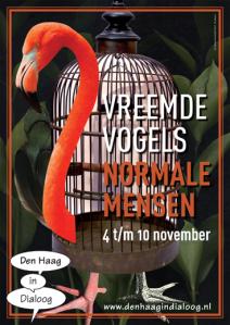 Den Haag in Dialoog 'Vreemde Vogels Normale Mensen flyer